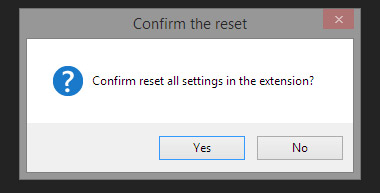 Reset all settings confirm