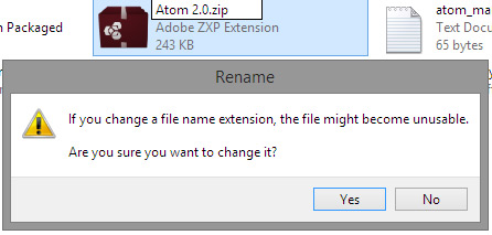 Change file type to ZIP