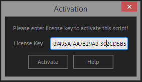 enter license key into script